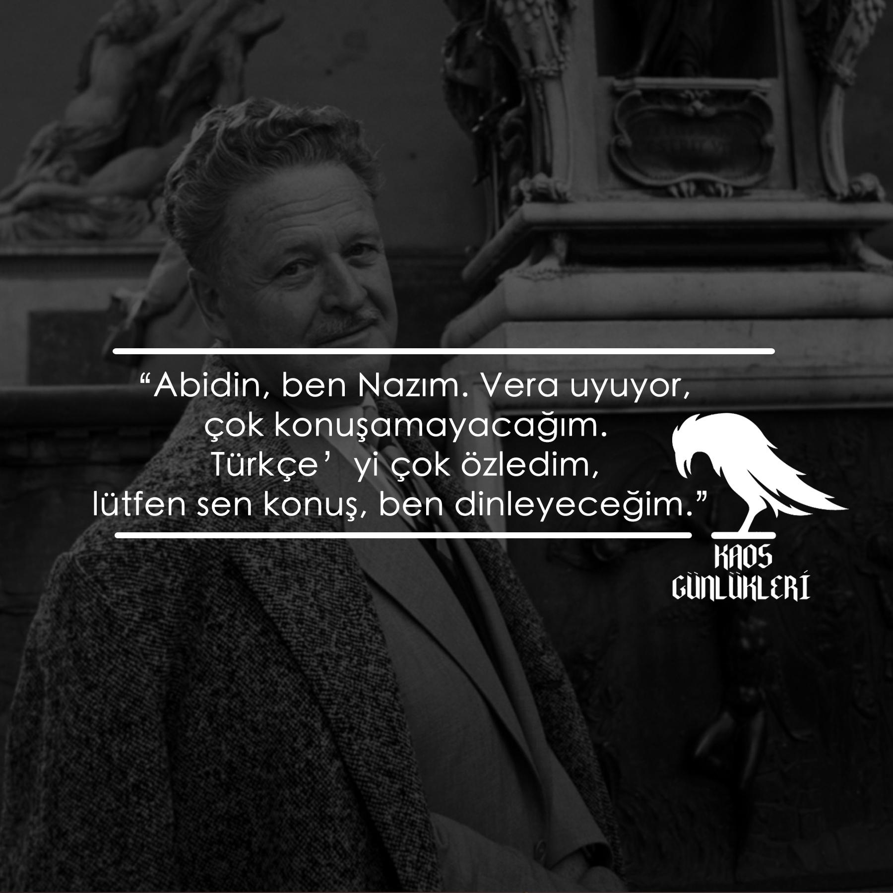 Nazım'ın Türkçe Özlemi